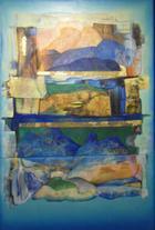 Retalhos sobre azul | Pintura | 2013