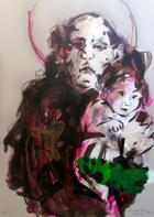 Sto Antonio e a cidade por dentro _ 11   Pintura   2014