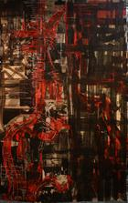 Profile picture in red | Pintura | sem data